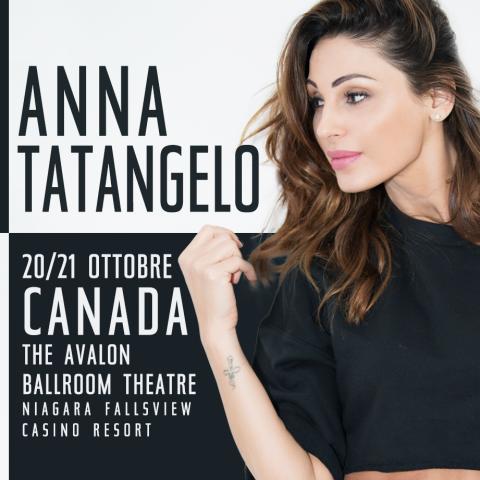 Anna dal vivo in Canada il 21 e 22 Ottobre!